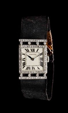 An Art Deco Platinum, 18 Karat Yellow Gold and Diamond Wristwatch, Cartier, x mm case dimensions e. on Sep 2014 Art Deco Jewelry, High Jewelry, Antique Jewelry, Vintage Jewelry, Cartier Jewelry, Jewellery, Art Deco Watch, Cool Watches, Dream Watches