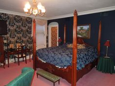 One of nine bedrooms at Castino Lakeview Mansion, Sheboygan, WI large group rental home. Former Reiss Mansion. www.castinolakeviewmansion.com Call 847-877-2003 to book your group vacation!