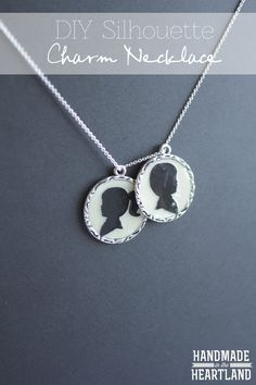 DIY Silhouette Charm Necklace