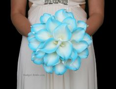 Turquoise Calla Lily Wedding Flowers