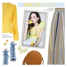 """""""Get Happy: Pops of Yellow"""" by beautifulplace ❤ liked on Polyvore featuring Jérôme Dreyfuss, Eye Candy and Olivia Burton"""