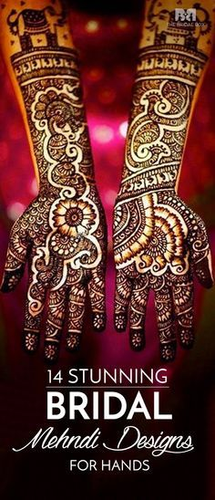 First of all, bridal mehndi is a very intricate and detailed body art form. Check out the list of 14 absolutely stunning bridal Mehendi designs for the blushing brides to be