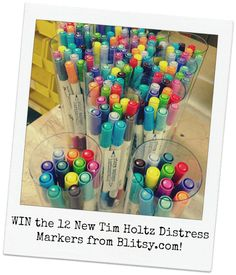 Giveaway from Blitsy Crafts NEW Tim Holtz distress markers, new colors.