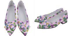 Tropical+Flowers+Women's+Bow+Heels Floral Shoes, Bow Heels, Adidas Fashion, Unique Shoes, Cute Bows, Tropical Flowers, Indie Brands, Women's Shoes, Print Design