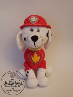 Marshall Paw Patrol - crochet toy by Julio Toys