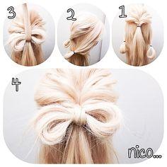 リボンの作り方  1  トップの毛をくるりんぱ!  2  サイドの毛を輪ゴムで輪っか作ります!  3  それをくるりんぱの垂れ下がった毛の上に集めます!そして垂れ下がった毛を少しもらいくるりんぱの中に通して輪ゴムでしばります!  4  あとはリボンをほぐして完成!  #美容師#nico#髪型#nico...#hairsalon#撮影#ヘアスタイル#スタイル#美容室 #ヘアアレンジ#アップスタイル #アレンジ#アップスタイル #ニコ#結婚式#結婚式アップ#クルリンパ#波ウェーブ#ヘア#オシャレ#ヘアセット#くるりんぱ#アレンジ解説#ヘアアレンジ解説#hairarrange#ヘアアレンジnico