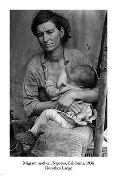 Dorothea Lange photography MIGRANT MOTHER poster 24x36 Nipomo CA 1936