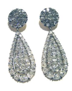 Antique Vintage Diamond Earrings - See more amazing jewelry at RadiantRings.net!