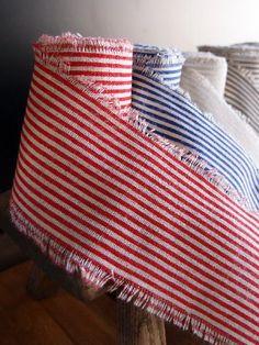 Red Striped Linen Ribbon Wedding Reception Table Decorations, Striped Linen, Red Stripes, Wedding Designs, Ribbon, Blanket, Inspiration, Sleeves, Tape
