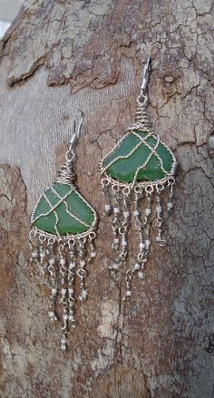 Sterling Silver Chandelier earrings, South African Topaz beads ...