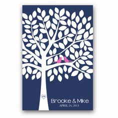 Wedding Guest Book Tree Unique Guest Book by GandGPrints on Etsy, $54.00
