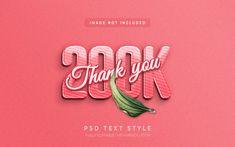 Follower 3d text style effect thank you ... | Premium Psd #Freepik #psd #template #3d #text #psd 3d Text Effect, Space Text, 3d Logo, Happy New Year 2020, Text Style, Text Effects, Text Color, Psd Templates, Flyer Design