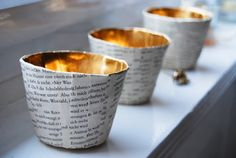 Teelichtbecher aus Papiermaschee