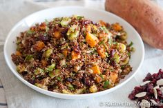 Quinoa Salad with Shaved Brussels Sprouts: easy and delicious (gf, vegan).