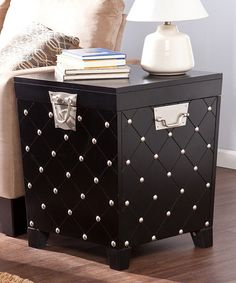 Another great find on #zulily! Black Nailhead End Table Trunk #zulilyfinds