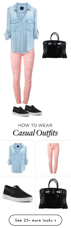 """""""#HaileysDesign Casual"""" by hailey-lewis on Polyvore featuring Dsquared2, MICHAEL Michael Kors and Hermès"""