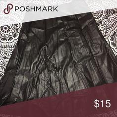 Skirt Black leathery skirt ✨ no longer wear. Used as a high waist skirt. Great condition 💕 marshalls Skirts Midi