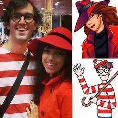 '90s Halloween Costumes For Couples: Where's Waldo and Carmen Sandiego