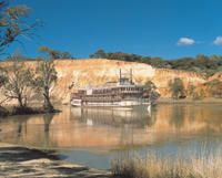 Board an authentic paddle wheeler for a 3-night cruise on the historic Murray River, traveling between Walkers Flat and Murray Bridge #murrayriver #paddlewheeler