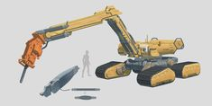 Excavator by on DeviantArt Iron Man Cosplay, Sci Fi News, Future Weapons, Construction Machines, Eden Project, Robot Concept Art, Star Wars Ships, Futuristic Technology, Sci Fi Art