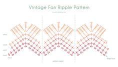 vintage-fan-ondulación-chart-acreativebeing  http://www.acreativebeing.com/2014/02/21/free-pattern-vintage-fan-ripple-blanket/