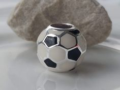 Silver Football Charm Sterling Silver Chains, 925 Silver, Football Jewelry, Prayer Box, Soccer Ball, Charms, Unique Jewelry, Handmade Gifts, Sports