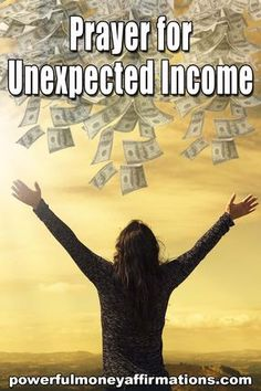 Prayer for Unexpected Income Here is a a genuine prayer for unexpected income and financial prosperity. Prayer Scriptures, Bible Prayers, Faith Prayer, God Prayer, Power Of Prayer, Deliverance Prayers, Scripture Quotes, Prayer For Finances, Financial Prayers