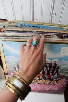 VINTAGE TURQUOISE RING Native American Blue by ForLoveoftheMoon