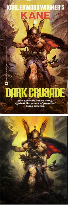 FRANK FRAZETTA - Dark Crusade - Karl Edward Wagner - 1991 Warner Books - cover by isfdb - print by nerdist.com