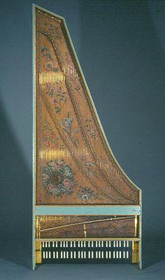 Plan view of Germain harpsichord