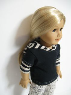 American Girl Doll   Black Floral by 123MULBERRYSTREET on Etsy, $20.00
