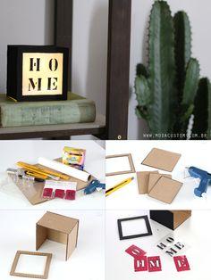Aprenda a fazer uma caixa luminosa com materiais super simples, sem fio e sem tomada!