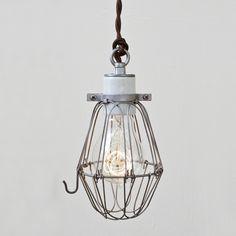 Basic Wire Bulb Cage Pendant Light