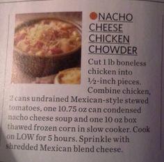 Nacho Cheese Chicken Chowder