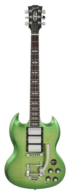 We did this Gibson SG Deluxe Limeburst!