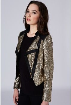 jacket - http://zzkko.com/n191859-ritish-entity-shop-purchasing-10.31-Famous-RARE-the-beautifl-street-motorcycle-models-lapel-sequined-jacket.html $35.30