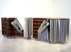 Art-furniture-by-Maria-Pergay. Innovative sideboard. Stainless steel furniture. Modern art furniture. For more inspirations: http://www.bocadolobo.com/en/inspiration-and-ideas