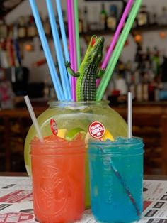 vodka, Midori, sour mix (Lemon-X), pineapple juice, Sprite.  Mix all ingredients together. Drizzle grenadine on the top.