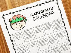 Editable Elf Calenda