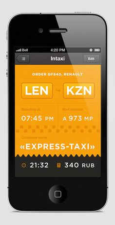 Intaxi — Logo & App by Igor Dolgov, via Behance