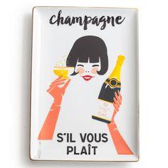 Rosanna Chez Elle Champagne S'il Vous Plait Tray $30