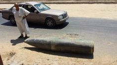 A sample of the Israeli munitions (bombs/rockets) used in Gaza. This one luckily did not explode at Deir El Balah, Gaza.
