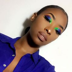 beauty, blue, and green image - Makeup Looks Dramatic Makeup On Fleek, Flawless Makeup, Cute Makeup, Glam Makeup, Gorgeous Makeup, Pretty Makeup, Makeup Looks, Bronze Makeup, Gothic Makeup