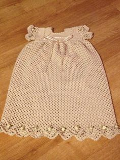 Crochet christening gown for baby