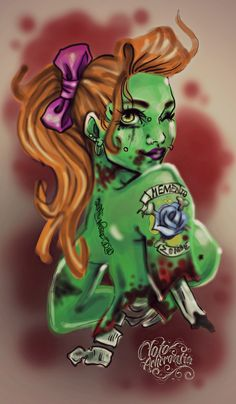 Zombie pin-up ♥
