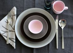 grey, brown, pink from heath ceramics on fb