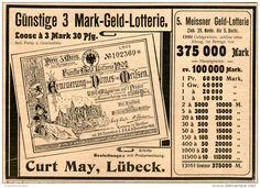 Original-Werbung/Inserat/ Anzeige 1902 - LOTTERIE /ERNEUERUNG DOM MEISSEN / CURT MAY LÜBECK - ca. 130 x 180 mm