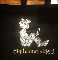 Custom bling tote & logo-wear apparel & more! Rhinestone & crystal by http://sparkle-plenty.com/custom.html