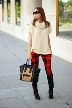 82e3a26a83ca8 2013 fall\winter Does Plaid All Over fashion plaid pants legging Tartan  Pants, Tartan