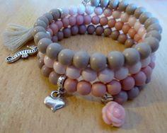 Tutorials van 't Kralenstulpje: Lief voorjaars-armbandje, ook voor de beginnende sieradenmaker.